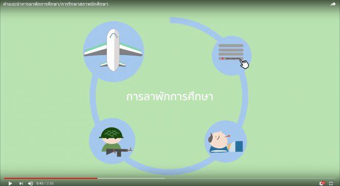 Video คำแนะนำการลาพักการศึกษา/การรักษาสภาพนักศึกษา