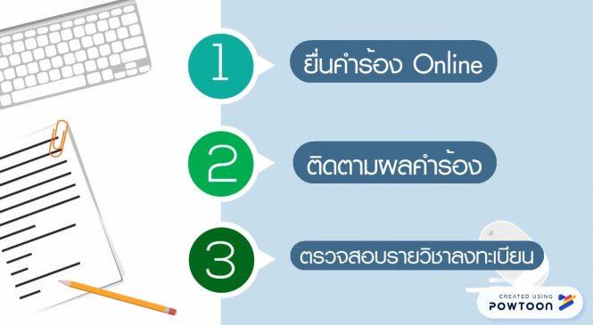 การยื่นคำร้อง Online (สำหรับนักศึกษา)